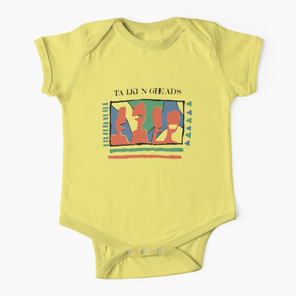 Talking Heads Graphic Design ArtWork Yellow Tee T-Shirt Short Sleeve Baby One-Piece