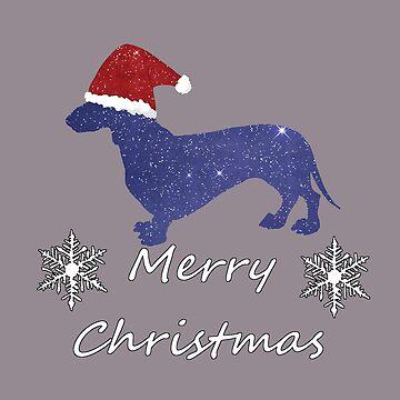 Santa Dachshund - Christmas Dog by GwendolynFrost