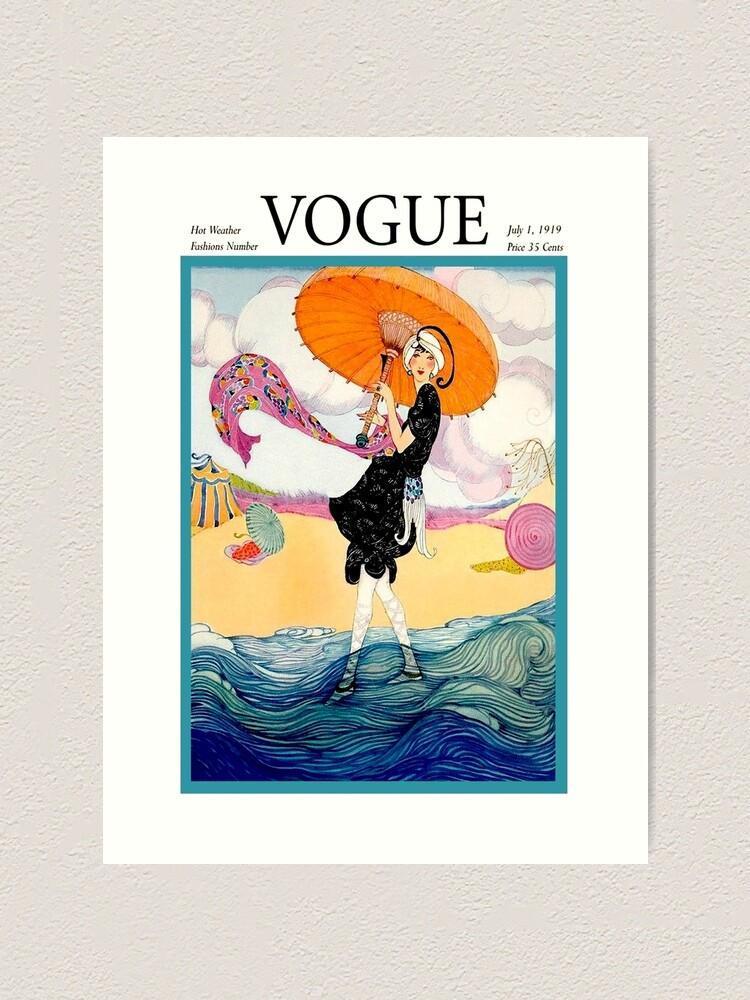 Alternate view of VOGUE : Vintage 1919 Magazine Advertising Print Art Print
