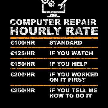 Computer repair hourly rate by WeeTee