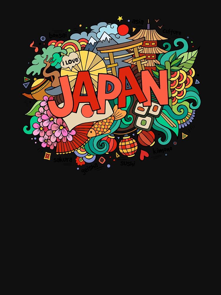 tsunami Drawing Lettering - Japan illustration by ZTDX