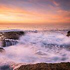 Waves before sunrise - Llop Mari by Ralph Goldsmith