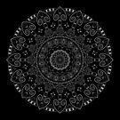 TARS Mandala Project 126 | White and Gold by BohoBear