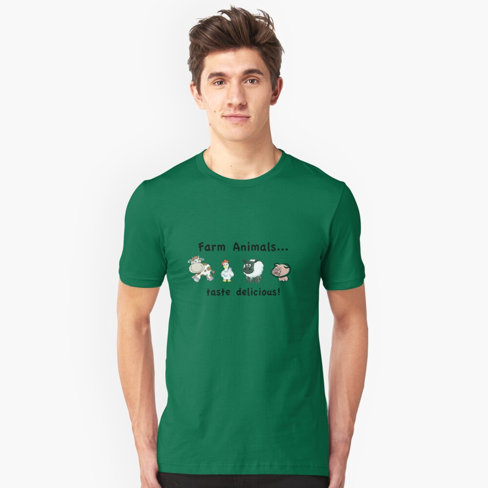 Farm Animals Taste Delicious Unisex T-Shirt Front