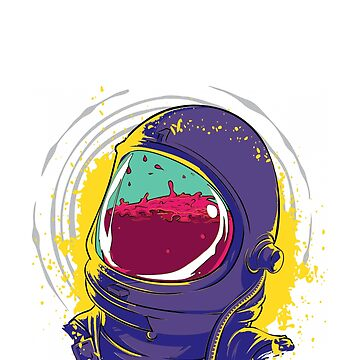 Astronaut In Space Mask Filled With Liquid by brodienochie
