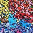 Robot Graffiti  by pinkarmy25