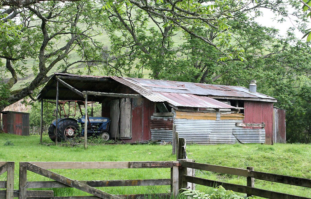The old tractor shed by mrbean
