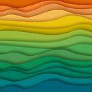Paper Strip Rainbow by pinkarmy25