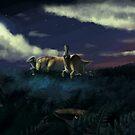 Parasaurolophus by UmbreoNoctie