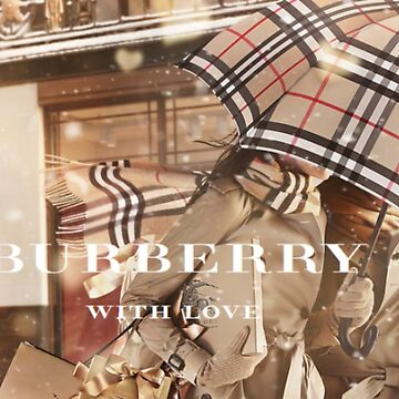 """BURBERRY WITH LOVE"" Classic Vintage Poster by bebebelle"