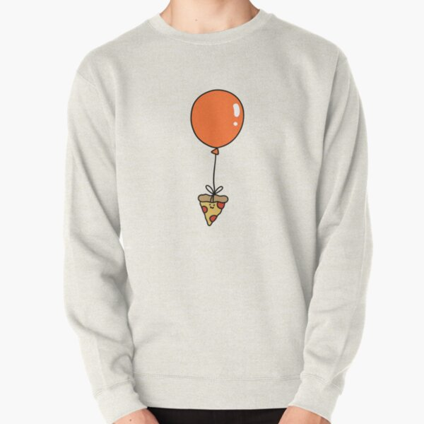Orange Balloon Pizza Slice Pullover Sweatshirt