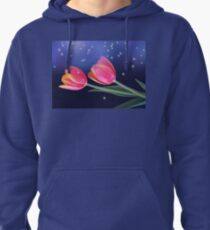 Tulips And Stars Pullover Hoodie