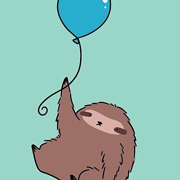 Blue Balloon Sloth by SaradaBoru