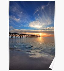 Sunset at Grange Jetty Poster