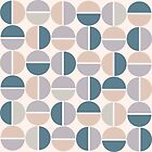 Half Cirque Pattern in New Pastels by kierkegaard