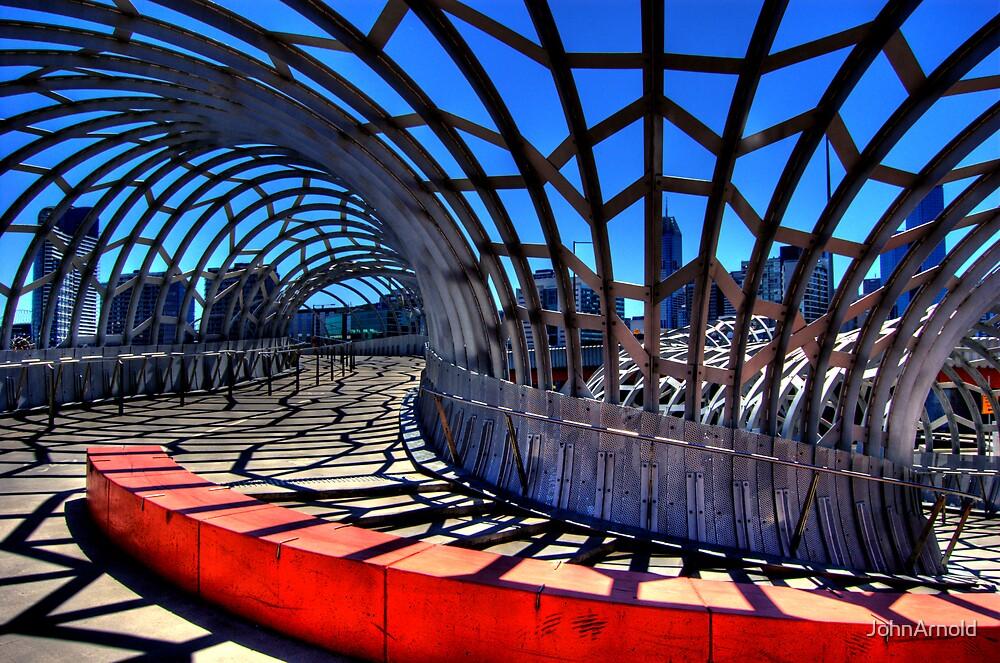 Docklands Walkway. by JohnArnold