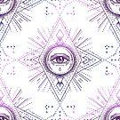 All Seeing Eye Mandala Sacred Geometry Pattern by Patterns Galore