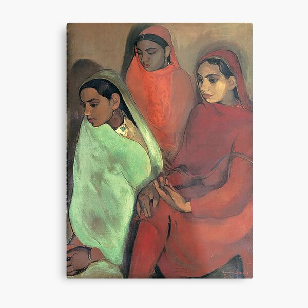 Three Girls - Amrita Sher-Gil Metal Print