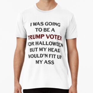 aafc70186a86 Funny Trump Voter For Halloween Tee