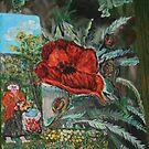 In my garden 16 x20 acrylic by eoconnor