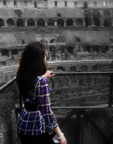 At the Roman Colosseum by ClaudineAvalos