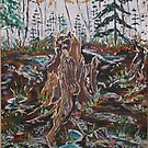 Forest Floor acrylic 18x24 by eoconnor