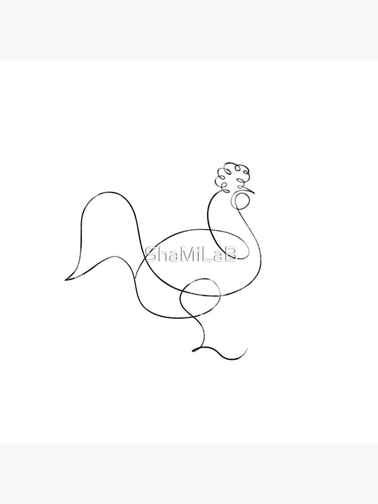 Picasso Line Art - Chicken by ShaMiLaB