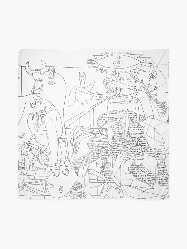 Alternate view of Picasso Line Art - Guernica Scarf