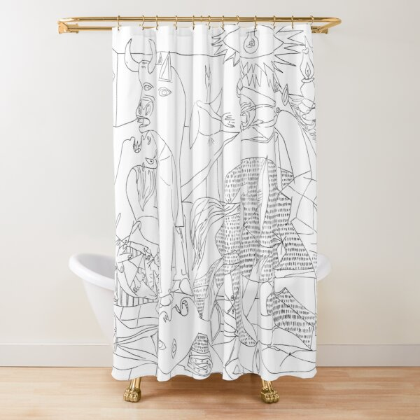 Picasso Line Art - Guernica Shower Curtain