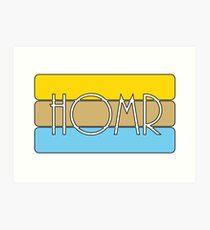 HOMR Art Print