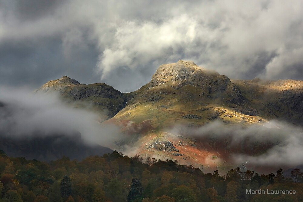 Harrison Stickle and Loft Crag in the Langdale Pikes by Martin Lawrence