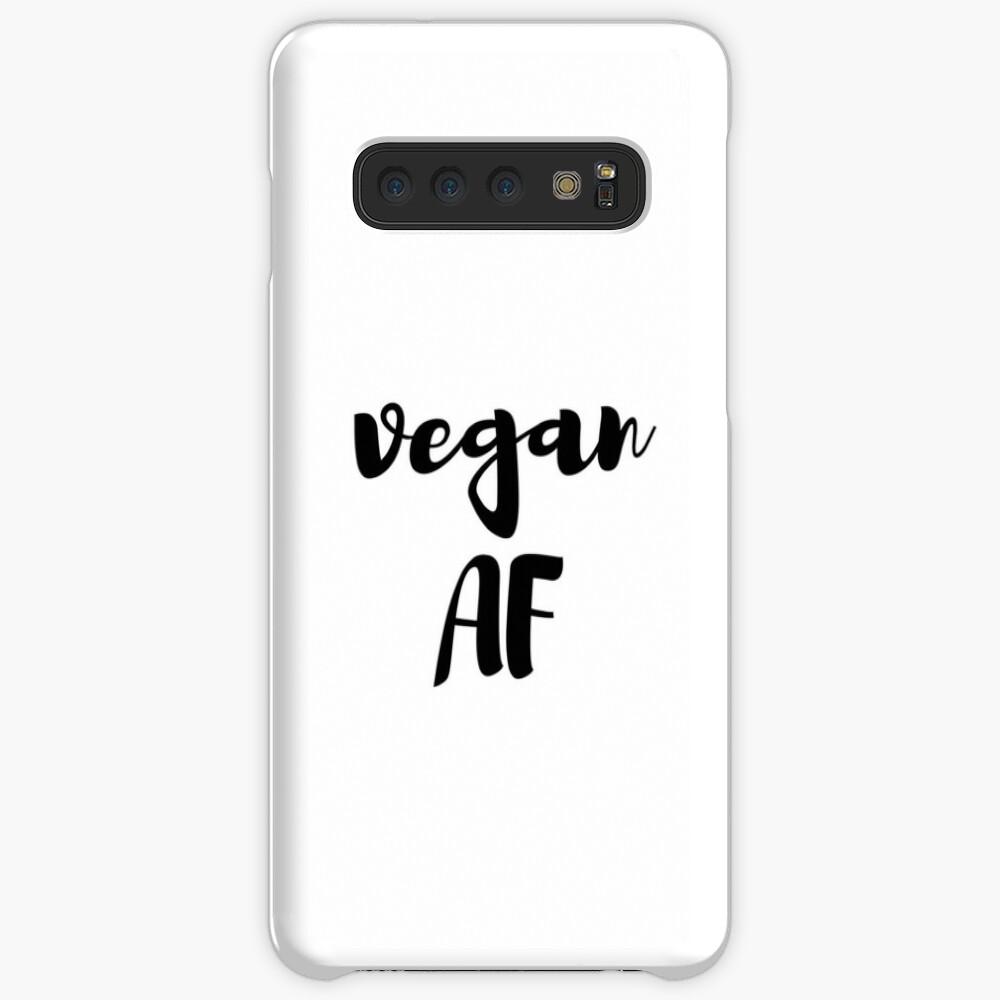 Vegan Af Funny Gift Idea Funda y vinilo para Samsung Galaxy