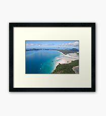 Aerial view of Whitehaven Beach, Queensland, Australia Framed Print