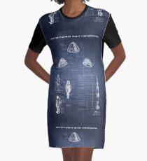 Apollo Saturn V Command Module (HighRes) blueprint Graphic T-Shirt Dress