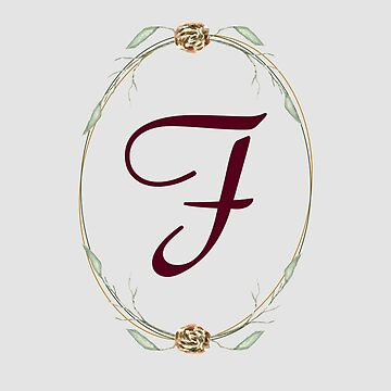Letter F- autumn forest uppercase Alphabet, Monogram, Watercolor  by ArtOlB
