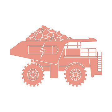 Electric dumper with ore, battery, charge symbol. by aquamarine-p