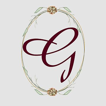 Letter G - autumn forest uppercase Alphabet, Monogram, Watercolor  by ArtOlB