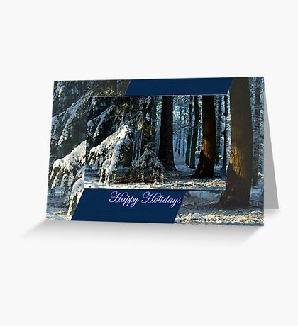 Pines Doorway - Happy Holidays Greeting Card