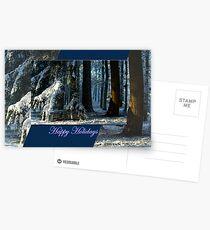 Pines Doorway - Happy Holidays Postcards
