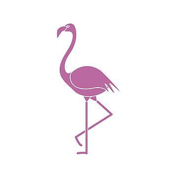 Exotic tropical bird flamingo. by aquamarine-p