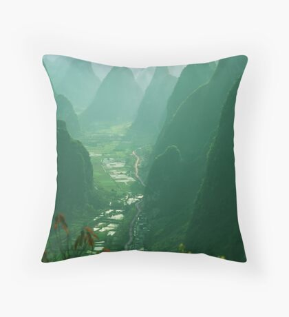 View Down the Valley Throw Pillow