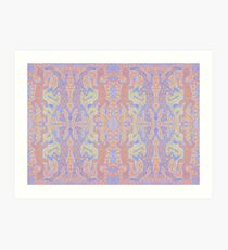 Fluorescent Pastel Aborigine Art Print