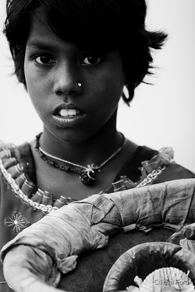Poojah Girl - Varinassi Faces by Chinua Ford