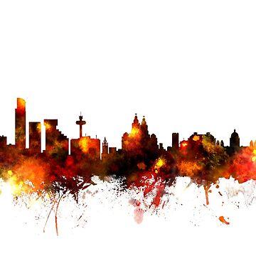 Liverpool England Skyline by ArtPrints