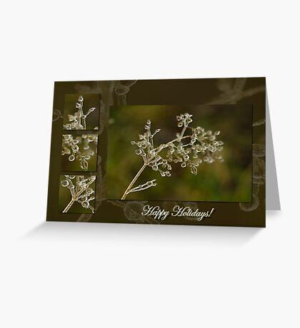 Crystal Elegance - Happy Holidays! Greeting Card