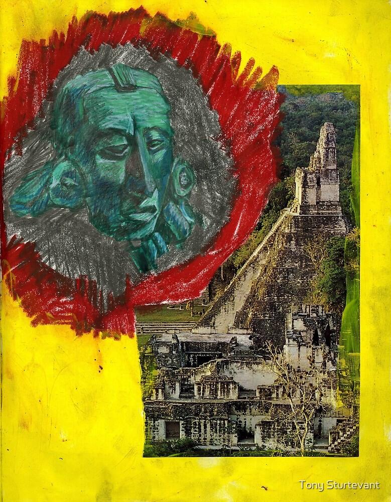 Tikal and Jade Mayan Sculpture by Tony Sturtevant