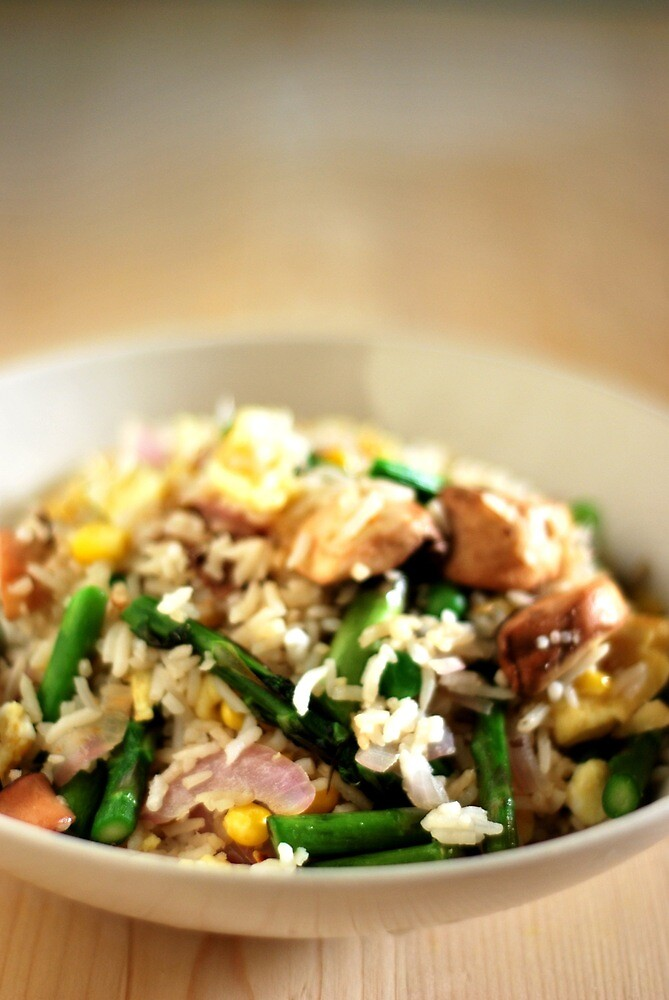Asparagus Fried Rice by Gilbert Ho