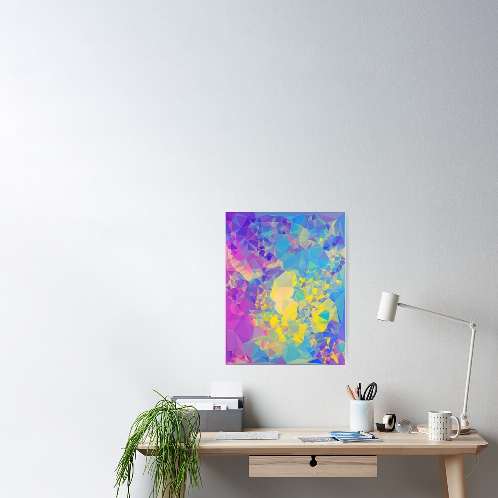 Polystone - Digital Abstract Poster