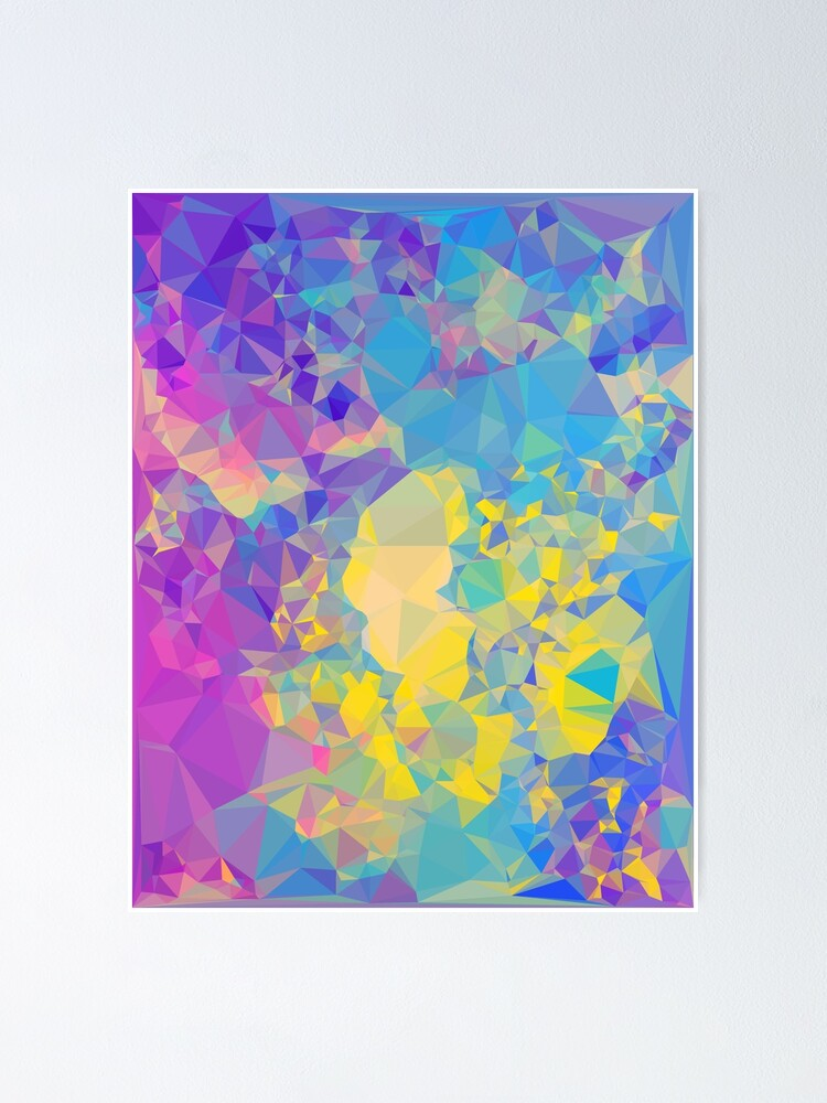 Alternate view of Polystone - Digital Abstract Poster
