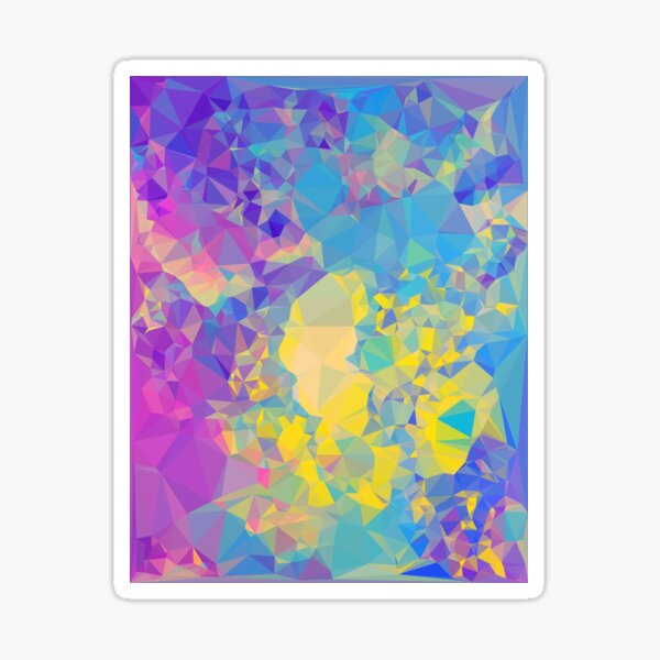 Polystone - Digital Abstract Sticker